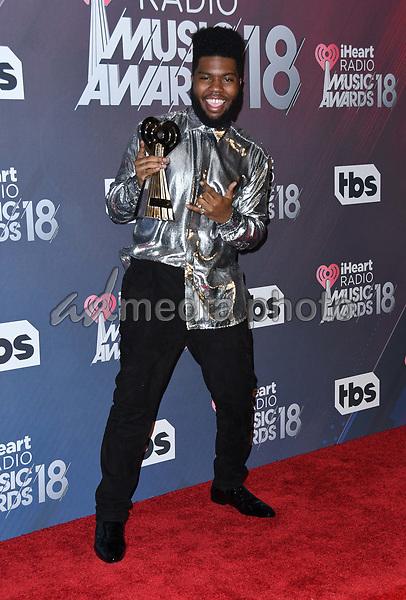 11 March 2018 - Inglewood, California - Khalid. 2018 iHeart Radio Awards - Press Room held at The Forum. Photo Credit: Birdie Thompson/AdMedia