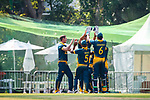 Captain Sarel Erwee of South Africa celebrates with teammates during Day 1 of Hong Kong Cricket World Sixes 2017 Group A match between Marylebone Cricket Club vs South Africa at Kowloon Cricket Club on 28 October 2017, in Hong Kong, China. Photo by Vivek Prakash / Power Sport Images