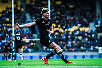 NZ's Jordie Barrett takes a conversion attempt during the Bledisloe Cup rugby union match between the New Zealand All Blacks and Australia Wallabies at Sky Stadium in Wellington, New Zealand on Sunday, 11 October 2020. Photo: Dave Lintott / lintottphoto.co.nz
