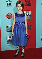 HOLLYWOOD, LOS ANGELES, CA, USA - OCTOBER 05: Shelby Siggins arrives at the Los Angeles Premiere Screening Of FX's 'American Horror Story: Freak Show' held at the TCL Chinese Theatre on October 5, 2014 in Hollywood, Los Angeles, California, United States. (Photo by Celebrity Monitor)