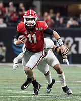 Atlanta, GA - January 8, 2018: The University of Georgia Bulldogs play the University of Alabama Crimson Tide for the National Championship at Mercedes-Benz Stadium.  Final score Alabama 26, Georgia 23 in overtime.