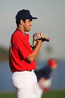 February 10 2008: Dimitri DeLaFuentes participates in a MLB pre draft workout for high school players at the Urban Youth Academy in Compton,CA.  Photo by Larry Goren/Four Seam Images