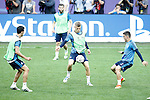 Real Madrid's Alvaro Arbeloa, Nacho Fernandez, Toni Kroos and Mateo Kovacic during Champions League 2015/2016 training session. May 27,2016. (ALTERPHOTOS/Acero)