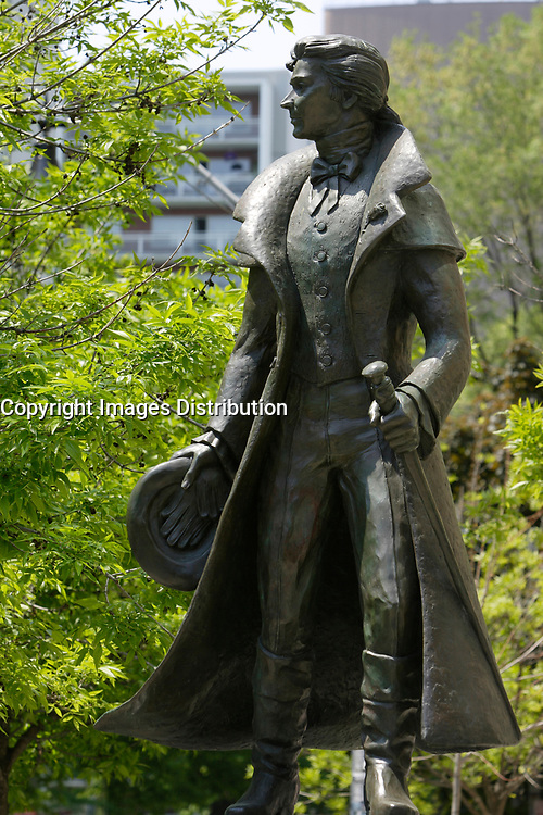 Statue of Alexander Wood  on Church Street in The   Village ;  a predominantly gay neighbourhood in the heart of downtown Toronto.<br />