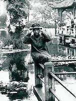 Park in Schanghai, China 1980