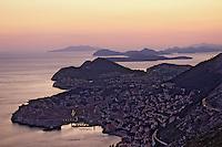 Croatie/Dalmatie/Dubrovnik: Soleil couchant