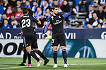 Alvaro Morata of Real Madrid reacts during their La Liga match between Deportivo Leganes and Real Madrid at the Estadio Municipal Butarque on 05 April 2017 in Madrid, Spain. Photo by Diego Gonzalez Souto / Power Sport Images