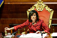 President of Senate Elisabetta Alberti Casellati<br /> Rome March 19th 2019. Senate. Speech of the Italian Premier about the next European Council and about the economic agreements italy/China.<br /> Foto Samantha Zucchi Insidefoto