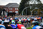 The start of the Men U23 Road Race of the UCI World Championships 2019 running 186.9km from Doncaster to Harrogate, England. 27th September 2019.<br /> Picture: Pauline Ballet/SWpix.com | Cyclefile<br /> <br /> All photos usage must carry mandatory copyright credit (© Cyclefile | Pauline Ballet/SWpix.com)