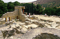 A reconstructed section of the ancient Minoan palace at Knossos.