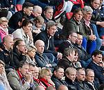 Nederland, Enschede, 26 april  2015<br /> Eredivisie<br /> Seizoen 2014-2015<br /> FC Twente-AZ<br /> Marcel Brands, technisch manager van PSV zit op de tribune