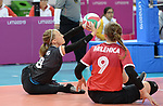 Jolan Wong and Sarah Melenka, Lima 2019 - Sitting Volleyball // Volleyball assis.<br />