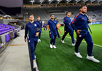 ORLANDO, FL - NOVEMBER 15: Paul Arriola #7 of the United States walks onto the field during a game between Canada and USMNT at Exploria Stadium on November 15, 2019 in Orlando, Florida.