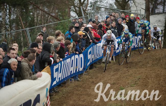 Sven Nys (BEL) descending<br /> <br /> UCI Worldcup Heusden-Zolder Limburg 2013