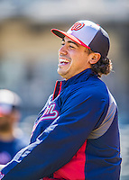21 April 2013: Washington Nationals third baseman Anthony Rendon is all smiles prior to a game against the New York Mets at Citi Field in Flushing, NY. Rendon was called up to replace Ryan Zimmerman, who was placed on the 15-day DL. Rendon makes his Major League debut with his start at third. The Mets shut out the visiting Nationals 2-0, taking the rubber match of their 3-game weekend series. Mandatory Credit: Ed Wolfstein Photo *** RAW (NEF) Image File Available ***