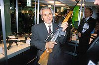 - Budapest, exhibition of Eastern Europe war industry; the engineer mister Mikhail Kalashnikov, inventor of the homonymous assault rifle....- Budapest, salone dell'industria bellica dell'Est Europa; l'ingegner Michail Kalashnikov, inventore dell'omonimo fucile da assalto