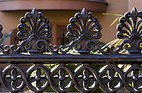Wrought iron fence in front of the Bolling Haxall House in Richmond, Virginia.