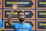 Dario Cataldo (ITA) Astana Pro Team at sign on before the start of the 99th edition of Milan-Turin 2018, running 200km from Magenta Milan to Superga Basilica Turin, Italy. 10th October 2018.<br /> Picture: Eoin Clarke | Cyclefile<br /> <br /> <br /> All photos usage must carry mandatory copyright credit (© Cyclefile | Eoin Clarke)