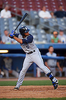 Brooklyn Cyclones outfielder Desmond Lindsay (5) at bat during the first game of a doubleheader against the Connecticut Tigers on September 2, 2015 at Senator Thomas J. Dodd Memorial Stadium in Norwich, Connecticut.  Brooklyn defeated Connecticut 7-1.  (Mike Janes/Four Seam Images)
