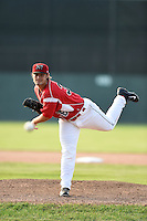 Batavia Muckdogs pitcher Ben Holmes (36) delivers a pitch during a game against the Jamestown Jammers on July 7, 2014 at Dwyer Stadium in Batavia, New York.  Batavia defeated Jamestown 9-2.  (Mike Janes/Four Seam Images)