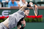 March 10, 2018: Andrey Rublev (RUS) defeated by Taylor Fritz (USA) 6-4, 7-6 (4) at the BNP Paribas Open played at the Indian Wells Tennis Garden in Indian Wells, California. ©Mal Taam/TennisClix/CSM