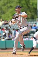 Greenville Drive pitcher Jacob Dahlstrand #26 on the mound during a game against the Charleston RiverDogs at Joseph P. Riley Jr. Ballpark  on April 9, 2014 in Charleston, South Carolina. Greenville defeated Charleston 6-3. (Robert Gurganus/Four Seam Images)