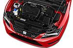 Car Stock 2016 Seat Leon CUPRA 280 5 Door Hatchback Engine  high angle detail view