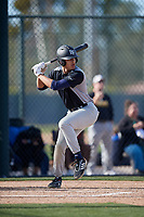 Trejyn Fletcher during the Under Armour All-America Pre-Season Tournament, powered by Baseball Factory, on January 19, 2019 at Fitch Park in Mesa, Arizona.  Trejyn Fletcher is an outfielder from Portland, Maine who attends Trinity Pawling High School and is committed to Vanderbilt University.  (Mike Janes/Four Seam Images)