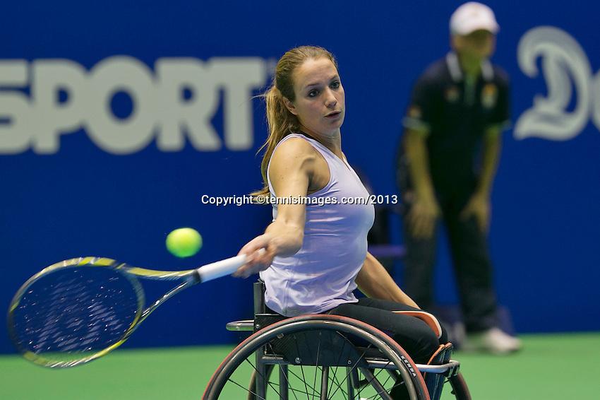 22-12-13,Netherlands, Rotterdam,  Topsportcentrum, Tennis Masters, , , Wheelchair final, Jiske Griffioen(NED)   <br /> Photo: Henk Koster