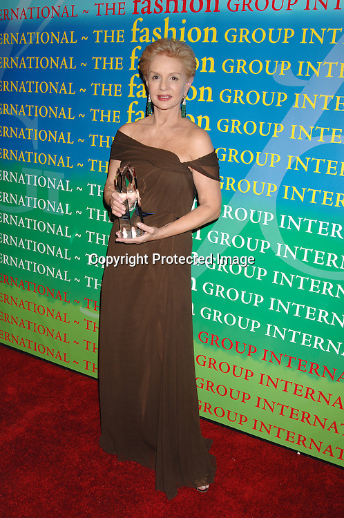 Carolina Herrera..at The Fashion Group International 's Night of Stars Gala ..on October 26, 2006 at Cipriani 42nd Street. ..Robin Platzer, Twin Images
