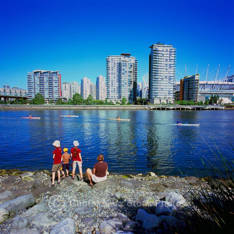 Vancouver, BC, British Columbia, Canada - View of City and New Roof at BC Place Stadium at False Creek