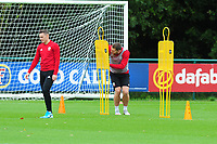Sam Vokes of Wales in action during the Wales Training Session at The Vale Resort in Cardiff, Wales, UK. Saturday 12 October 2019