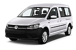 2015 Volkswagen Caddy Maxi Dark & Cool 5 Door Mini Mpv Angular Front stock photos of front three quarter view