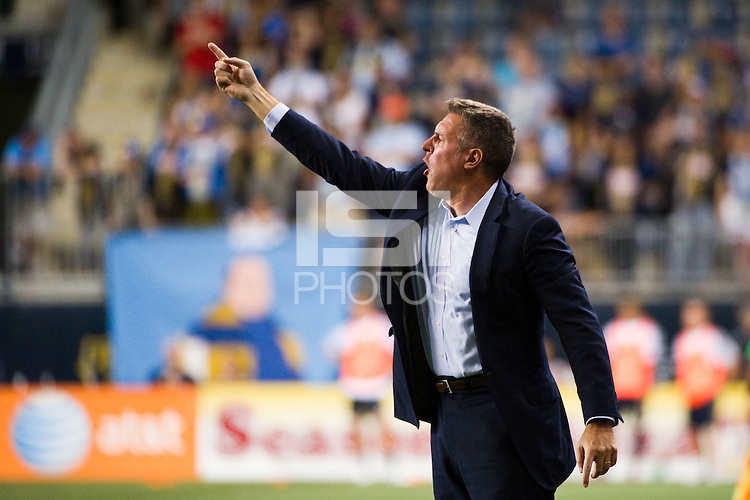 Sporting Kansas City manager Peter Vermes. Sporting Kansas City defeated the Philadelphia Union 2-0 during the semifinals of the 2012 Lamar Hunt US Open Cup at PPL Park in Chester, PA, on July 11, 2012.