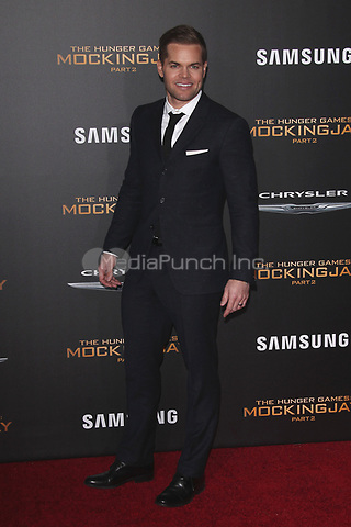 """LOS ANGELES, CA - NOVEMBER 16: Wes Chatham at the Premiere Of """"The Hunger Games: Mockingjay - Part 2"""" At Microsoft Theater On November 16, 2015. Credit: mpi21/MediaPunch"""