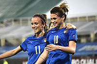 Cristiana Girelli of Italy celebrates after scoring a goal during the Women s EURO 2022 qualifying football match between Italy and Israel at stadio Carlo Castellani in Empoli (Italy), February, 24th, 2021. Photo Image Sport / Insidefoto