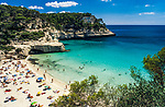 Spanien, Balearen, Menorca, Cala Mitjana: Badebucht im Sueden | Spain, Balearic Islands, Menorca, Cala Mitjana: bay and beach in the south