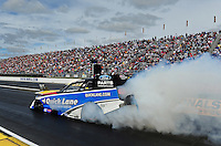 Sept. 5, 2011; Claremont, IN, USA: NHRA funny car driver Bob Tasca III during the US Nationals at Lucas Oil Raceway. Mandatory Credit: Mark J. Rebilas-