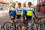 Matt Lacey, Michael Leahy, Tony Daly and Pat Sullivan from the Tralee cycling club at the Rás Mumhan cycling in Killorglin on Easter Monday.