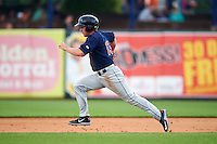 Cedar Rapids Kernels outfielder Max Murphy (13) steals second during a game against the West Michigan Whitecaps on June 7, 2015 at Fifth Third Ballpark in Comstock Park, Michigan.  West Michigan defeated Cedar Rapids 6-2.  (Mike Janes/Four Seam Images)