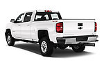 Car pictures of rear three quarter view of a 2018 Chevrolet Silverado 2500HD LT 4WD Crew Cab 4 Door Pick Up angular rear