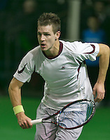 09-02-14, Netherlands,Rotterdam,Ahoy, ABNAMROWTT, Adrian Sikora<br /> Photo:Tennisimages/Henk Koster