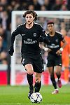Adrien Rabiot of Paris Saint Germain in action during the UEFA Champions League 2017-18 Round of 16 (1st leg) match between Real Madrid vs Paris Saint Germain at Estadio Santiago Bernabeu on February 14 2018 in Madrid, Spain. Photo by Diego Souto / Power Sport Images