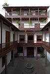 Spain, Canary Islands, La Palma, Santa Cruz de La Palma: capital - old town, Palacio de Salazar, courtyard