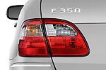 Tail light close up detail view of a 2009 Mercedes E Class Wagen 350