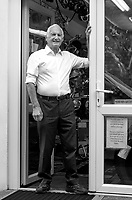 BNPS.co.uk (01202 558833)<br /> Pic: BNPS<br /> <br /> Pictured: Ray outside in his shop in 2021<br /> <br /> Tireless Ray Fisher still works full-time in the motorcycle shop he opened 62 years ago - and he has plenty left in the tank.<br /> <br /> The 85 year old founded Ray Fisher's Brickbits in Christchurch, Dorset, in 1959 after training as a bike mechanic.<br /> <br /> It is a family affair as his two children Gerry, 58, and Stephanie, 54, have both worked solely for him since leaving school aged 16.<br /> <br /> Ray said he had loved bikes since childhood and learnt how to repair them while doing national service in the early 1950s.