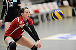Rüsselsheim, Germany, April 13: Silvia Sperl #7 of the Rote Raben Vilsbiburg warms up before play off Game 1 in the best of three series in the semifinal of the DVL (Deutsche Volleyball-Bundesliga Damen) season 2013/2014 between the VC Wiesbaden and the Rote Raben Vilsbiburg on April 13, 2014 at Grosssporthalle in Rüsselsheim, Germany. Final score 0:3 (Photo by Dirk Markgraf / www.265-images.com) *** Local caption ***