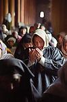 A lady prays at Jama Masjid in Srinagar.  Jammu & Kashmir, India. Arindam Mukherjee
