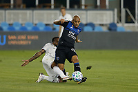 SAN JOSE, CA - SEPTEMBER 5: Judson #93 of the San Jose Earthquakes passes the ball during a game between Colorado Rapids and San Jose Earthquakes at Earthquakes Stadium on September 5, 2020 in San Jose, California.