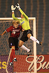 DALLAS, TX -SEPTEMBER 25: Bobby Rhine #19 of the Dallas Burn in action against David Kramer #1 of Colorado Rapids at Cotton Bowl in Dallas on September 25, 2002 in Dallas, Texas. (Photo by Rick Yeatts) Rhine's career consisted of 212 games making 136 starts, played more than 12,000 minutes scoring 23 goals and 34 recorded assists.